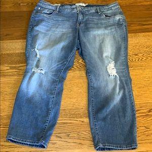 Torrid Distressed Boyfriend Jeans Size 22